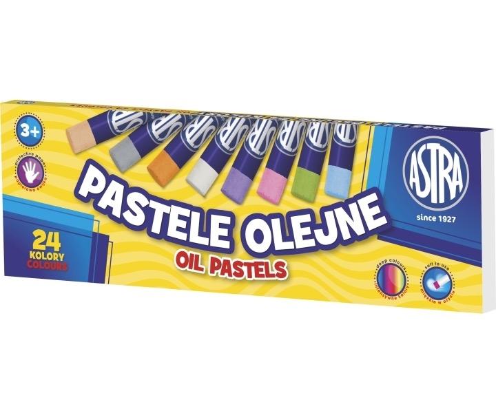 Kredki pastelowe olejne 24 kolory Astra