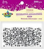 Oczy kreatywne dekoracyjne ruchome czarne 5mm 300szt.