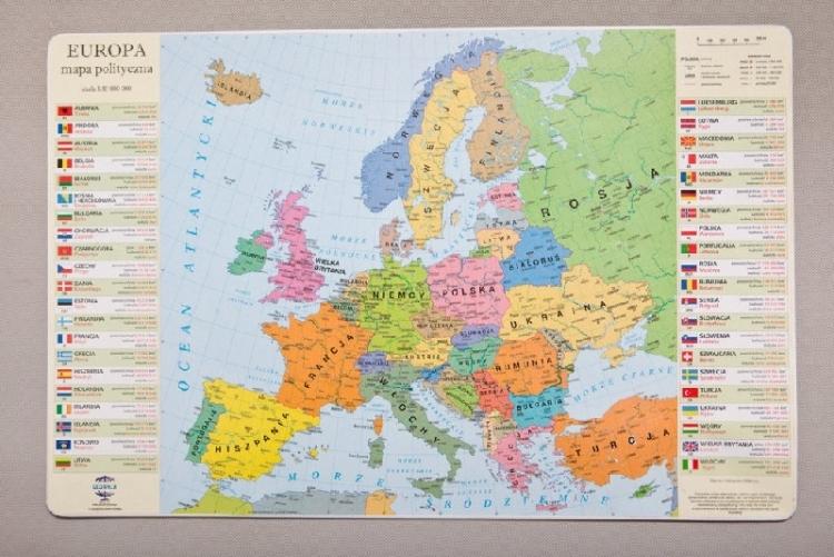 Podkładka na biurko mapa polityczna Europy