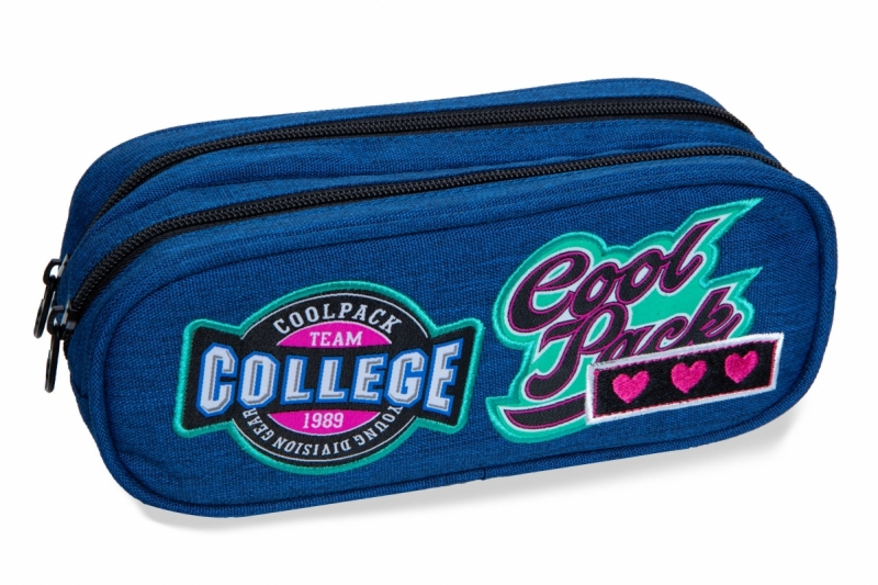 Saszetka podwójna Coolpack Clever Badges Denim