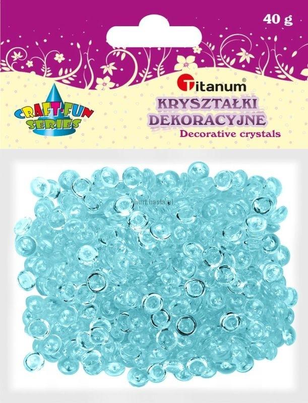 Kryształki ozdobne plastikowe transparentne 40g