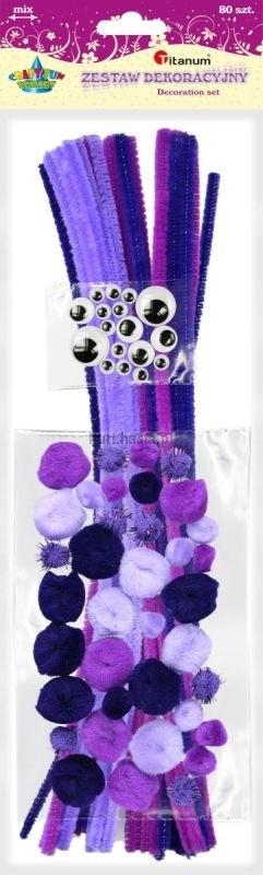 Zestaw kreatywny fioletowy A`80 Titanum