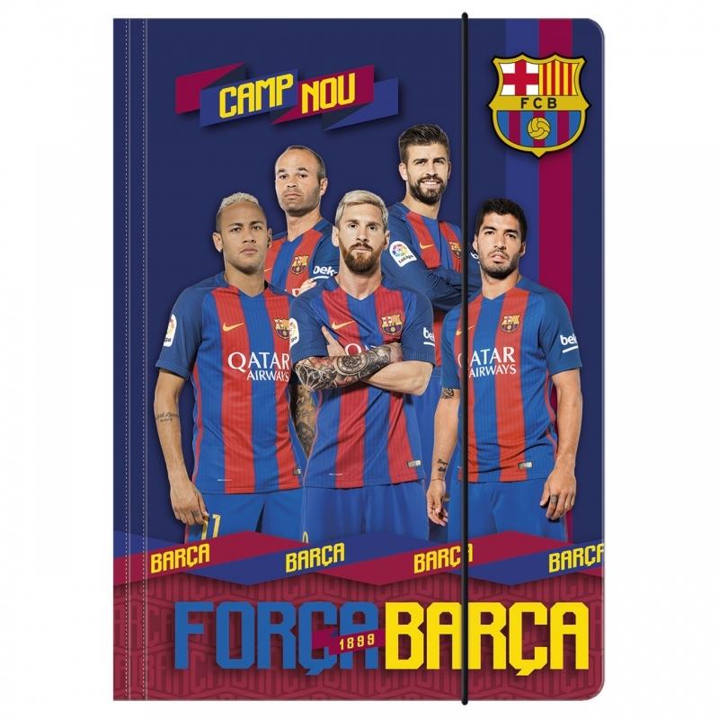 Teczka na gumkę A4 FC Barcelona