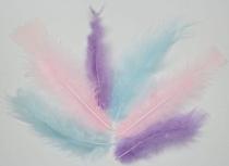 Piórka dekoracyjne kreatywne mix trzy kolory 10-15 cm 8g