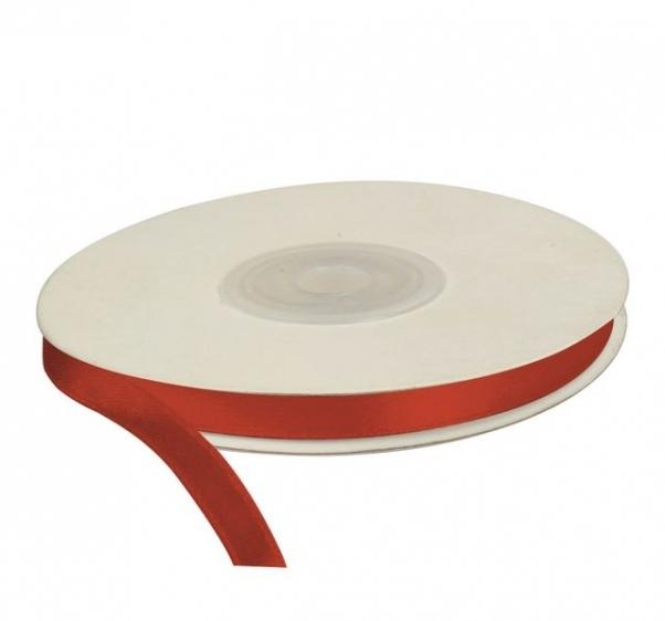 Wstążka satynowa dekoracyjna czerwona 6mm/25m