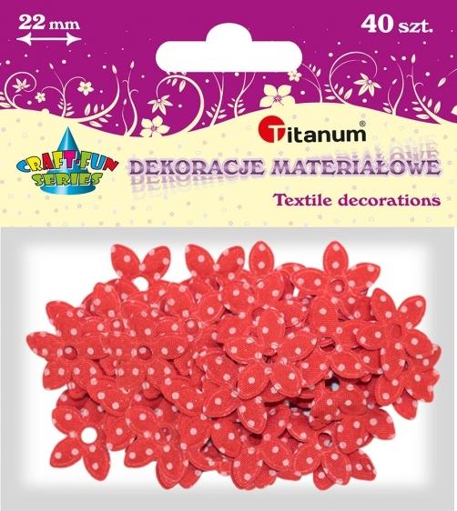 Dekoracje materiałowe kwiatki 22mm 40 szt.