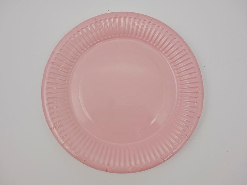 Talerz papierowy kolor różowy 17,5cml A`10