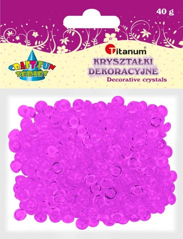 Kryształki ozdobne plastikowe fioletowe 40g