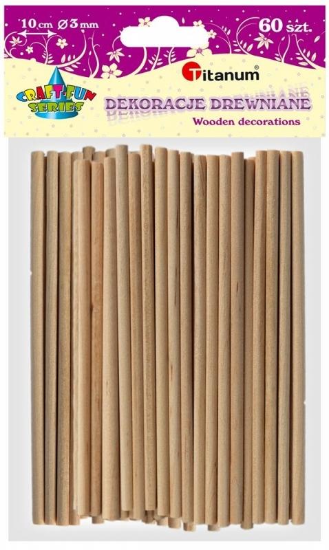 Patyczki drewniane okrągłe 10cm fi 3mm A`60