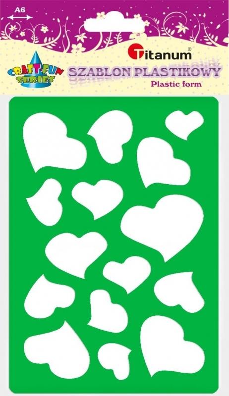 Szablon plastikowy A6 serca 22935