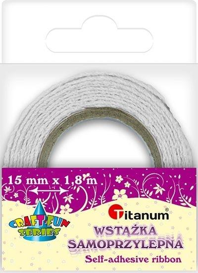 Wstążka bawełniana koronkowa biała 15mmx1,8m