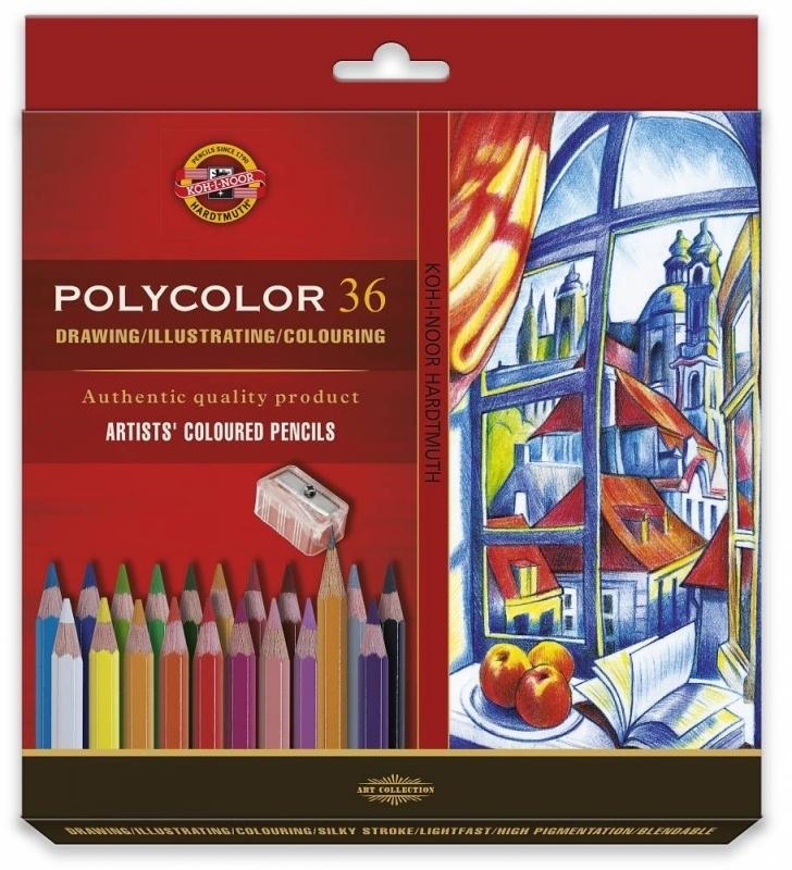 Kredki ołówkowe 36 kolory Polycolor Koh-I-Noor