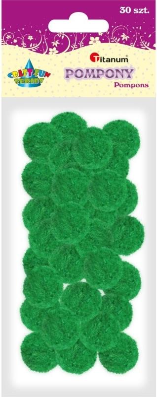 Pompony akrylowe zielony 2,5cm A`30