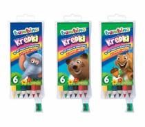 Kredki ołówkowe grube Bambino 6 kolorów + temperówka