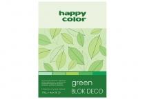 Blok techniczny DECO A4/20 170g 5 odcieni zieleni Happy Color