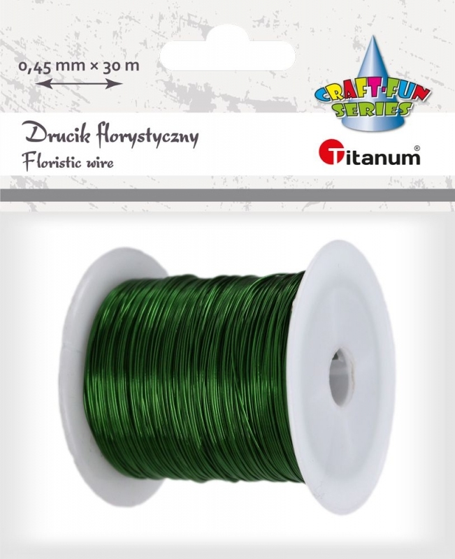 Drucik zielony 0,45mmX30m Titanum