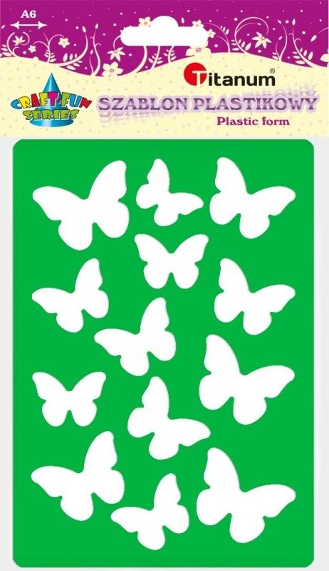 Szablon plastikowy A6 motyle 22933