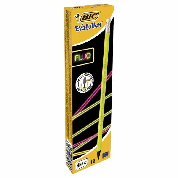 Ołówek Bic z gumką fluo