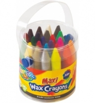 Kredki woskowe 24 kolory w wiaderku MAXI Colorino