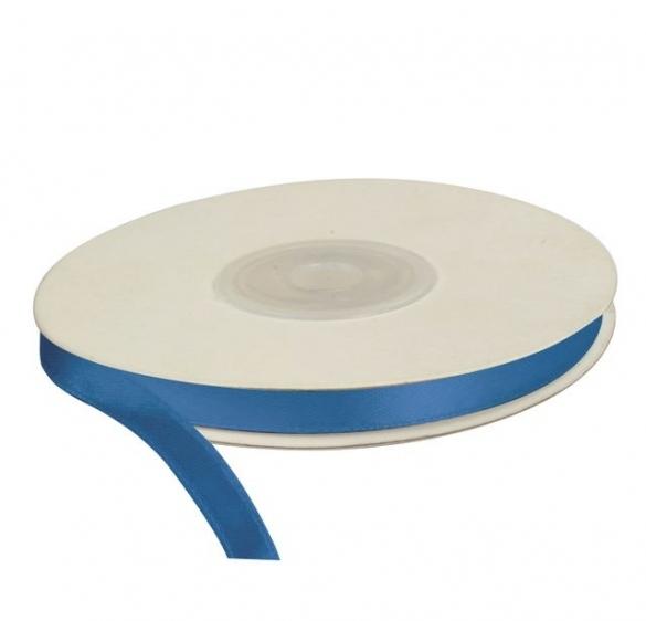 Wstążka satynowa dekoracyjna niebieska 6mm/25m