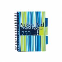 Kołozeszyt z przekładkami A5/250 kratka Pukka Pad Stripe niebieski