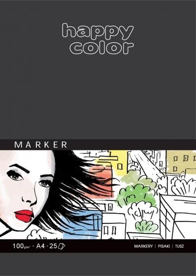 Blok artystyczny do markerów A4 25ark. 100g Happy Color