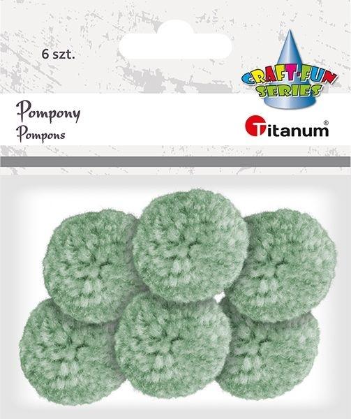 Pompony pastelowe jasno zielony 3cm A`6