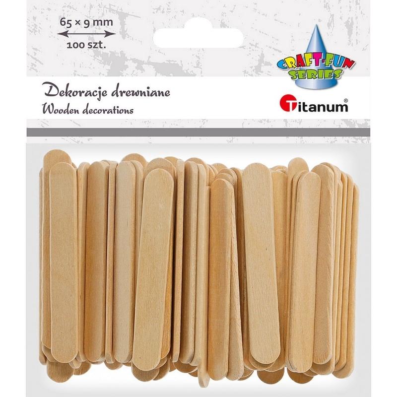 Patyczki drewniane szpatułki 6,3x0,9cm A`100
