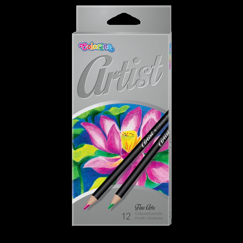 Kredki ołówkowe 12 kolorów Artist Colorino