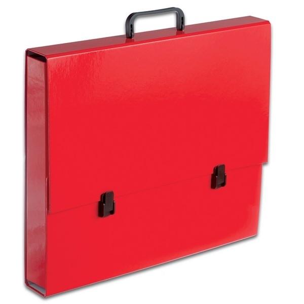 Teczka z rączką A3 czerwona pastelowa Tadeo