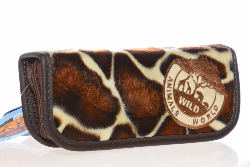 Piórnik jednokomorow Animals brązowy WAR491