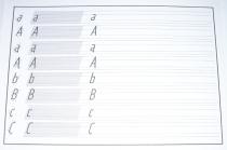 Blok pisma technicznego typu A, proste