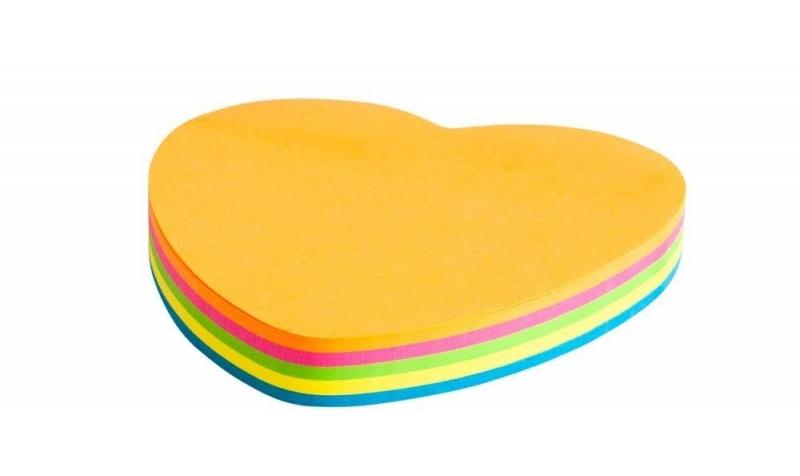 Notes samoprzylepny neon  kształty serce op.100k
