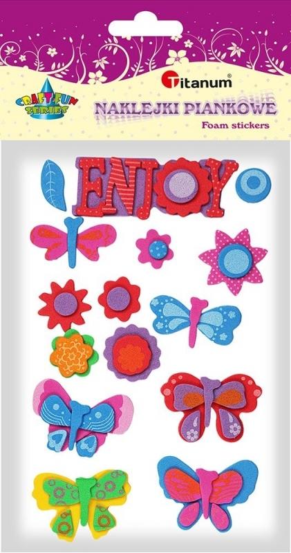 Naklejki piankowe kwiaty, motyle Enjoy