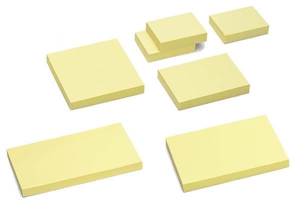 Notes samoprzylepny 75 x 75mm   pastel żółty TRES