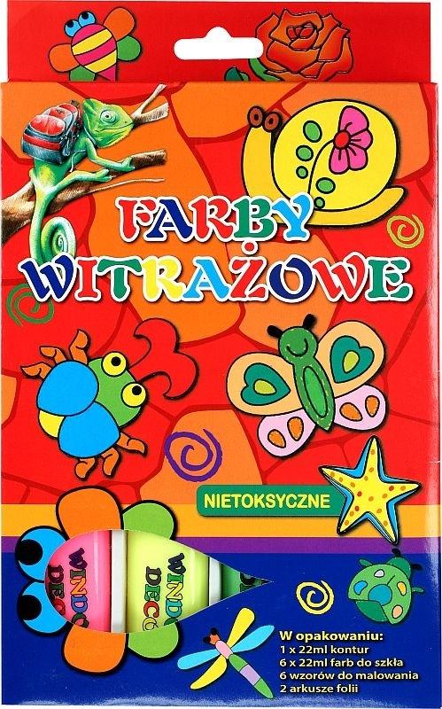 Farby witrażowe deco 6 kolorów 3037