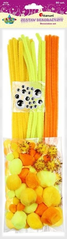 Zestaw kreatywny żółty A`80 Titanum
