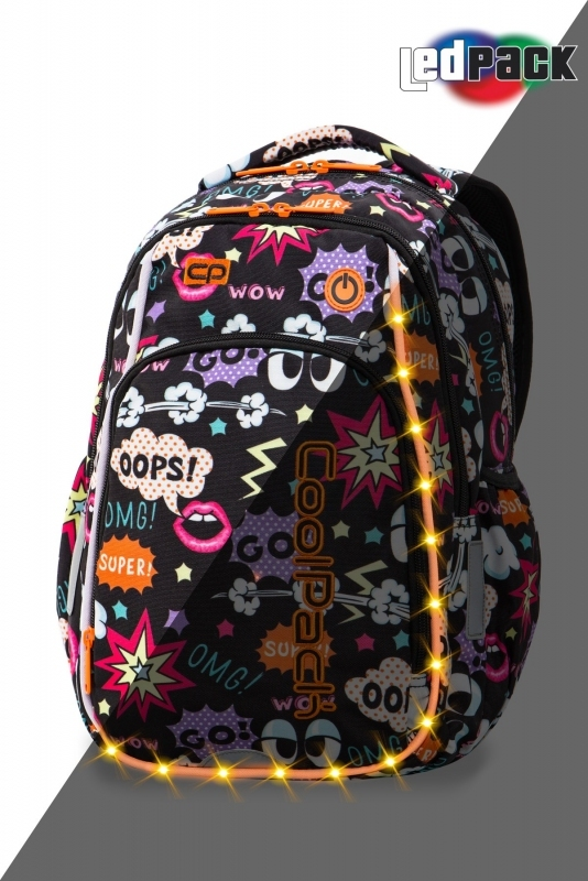 Plecak młodzieżowy Coolpack Strike S Comics Led