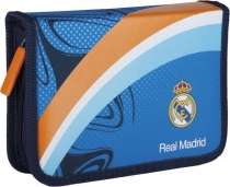 Piórnik pojedynczy z wyposażeniem 2 klapkowy  Real Madrid RM-38