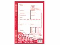 CMR Międzynarodowy List Przewozowy 1+3 kopie
