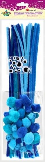 Zestaw kreatywny niebieski A`80 Titanum