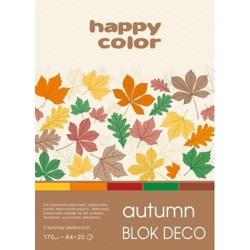 Happy Color blok kolor mix Autumn A4/20 170g Deco