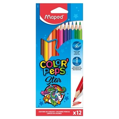 Kredki ołówkowe trójkątne 12 kol. Colorpeps Strong