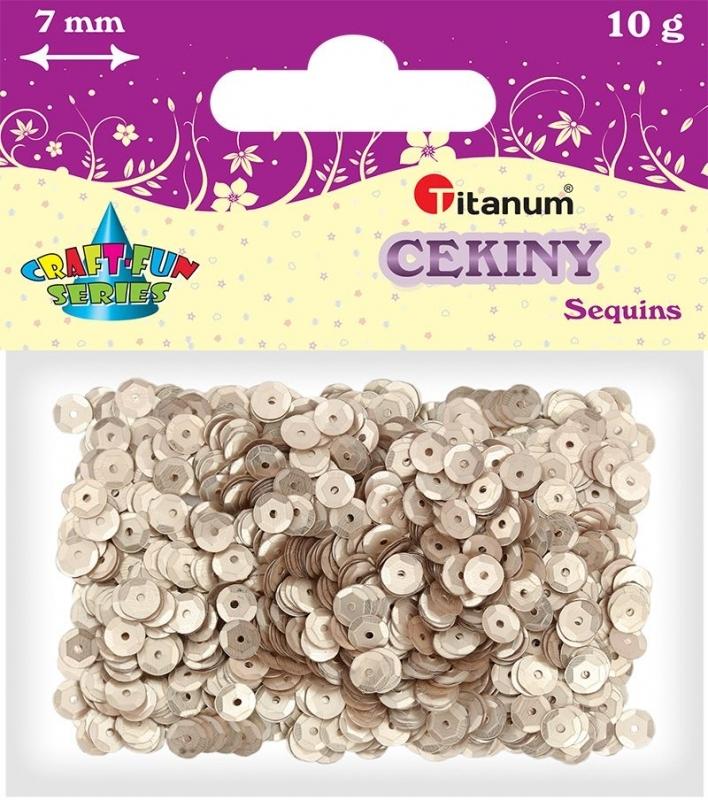 Cekiny kreatywne okrągłe matowe srebrne 7mm 10g