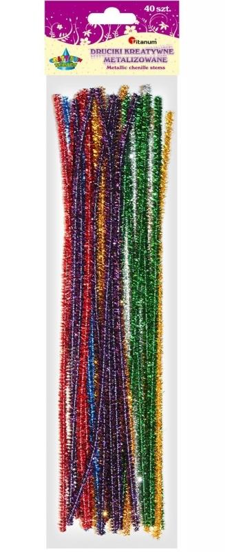 Druciki kreatywne 0,4x30cm A`40 metalizowane