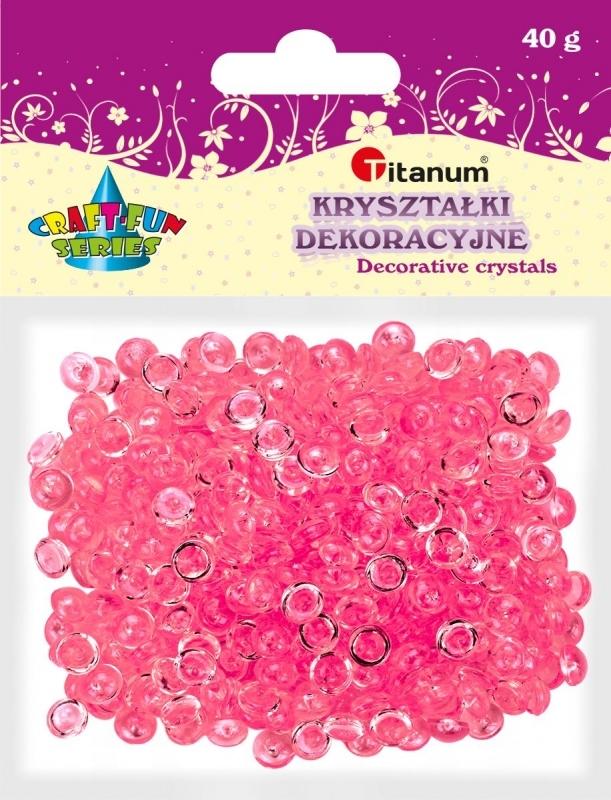 Kryształki ozdobne plastikowe rose 40g