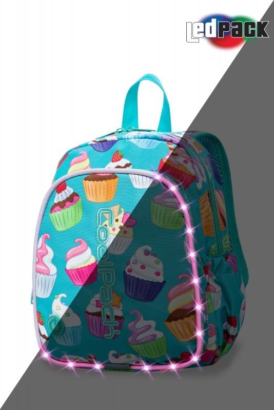 Plecak dziecięcy Coolpack Bobby Cupcakes Led