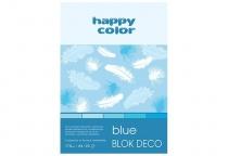 Blok techniczny DECO A4/20 170g 5 odcieni niebieskiego