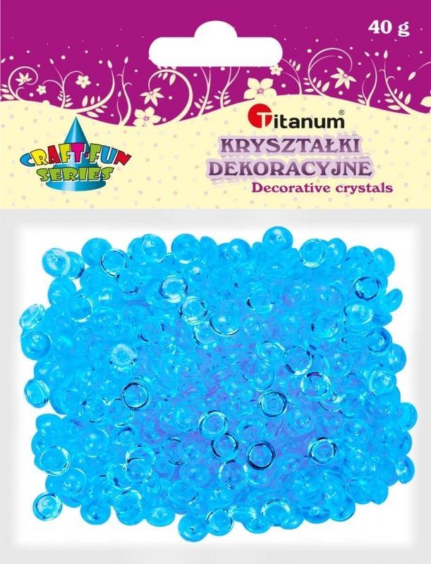 Kryształki ozdobne plastikowe j.niebieskie 40g