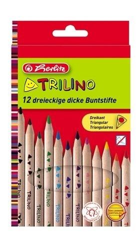 Kredki ołówkowe grube TRILINO HERLITZ 12 kol.